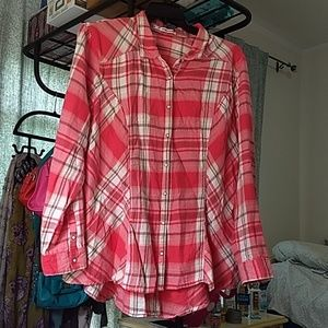 Maurices Salmon Colored Flannel